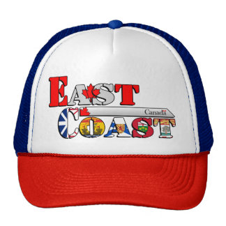 East Coast Letter Flags Cap/Hat [Canadian Edition] Trucker Hat