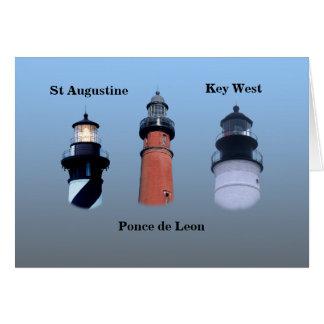 East Coast Lighthouses Greeting Card