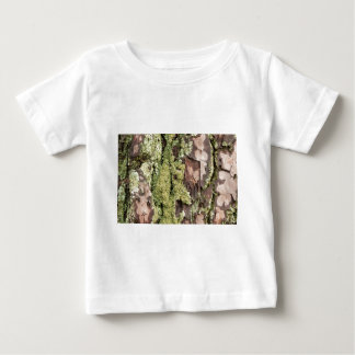 East Coast Pine Tree Bark Wet From Rain with Moss Baby T-Shirt