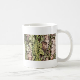 East Coast Pine Tree Bark Wet From Rain with Moss Coffee Mug