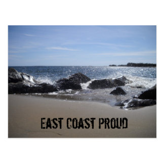 East Coast Proud - Beach / Rocks Postcard