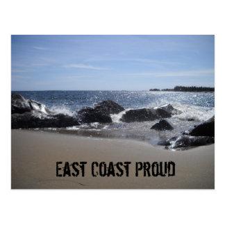 East Coast Proud - Beach / Rocks Postcard