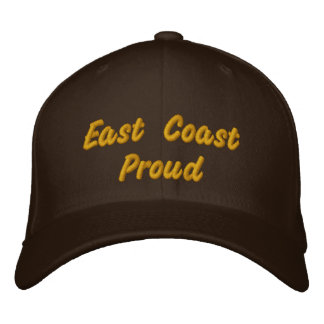 East Coast Proud Dark Brown Hat Embroidered Baseball Caps