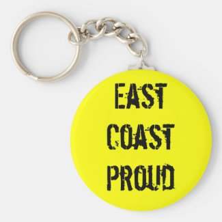 East Coast Proud Yellow Keychain