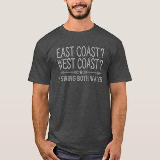 East Coast West Coast | Swing Both Ways Funny T-Shirt