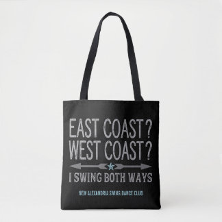 East Coast West Coast | Swing Both Ways Tote Bag