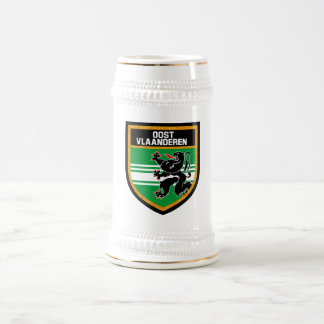 East Flanders Flag Beer Stein