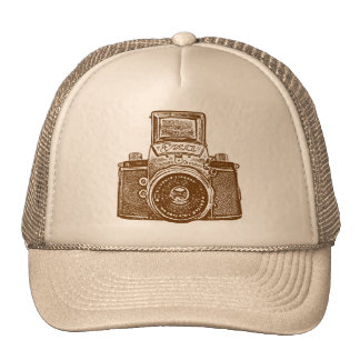 East German Camera - Brown Trucker Hat
