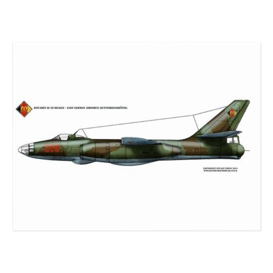 East German Ilyushin Il-28 Beagle Postcard