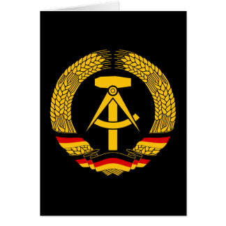 East Germany Coat of Arms / Deutschland State Seal Greeting Card