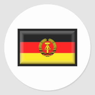 East Germany Flag Classic Round Sticker