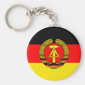 East Germany Flag Keychain