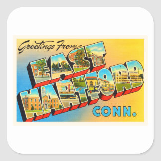 East Hartford Connecticut CT Old Travel Souvenir Square Sticker