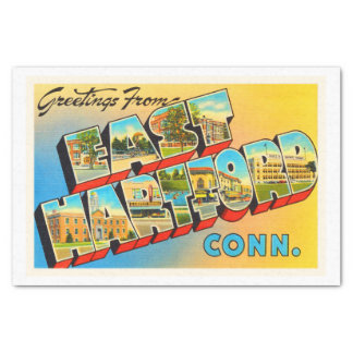 East Hartford Connecticut CT Old Travel Souvenir Tissue Paper