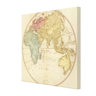 East Hemisphere  map Canvas Print