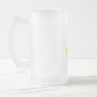 East India Trading Company Glass Frosted Glass Beer Mug