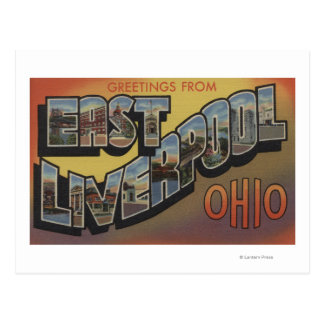 East Liverpool, Ohio - Large Letter Scenes Postcard