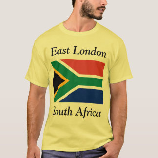 East London, South Africa with South African Flag T-Shirt