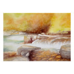 East Lyn river waterfalls Poster