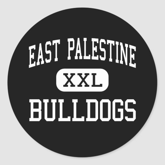 East Palestine - Bulldogs - High - East Palestine Classic Round Sticker