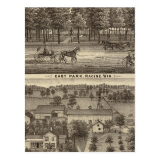 East Park, Racine and Oakland Farm Postcard