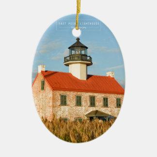 East Point Lighthouse. Ceramic Ornament