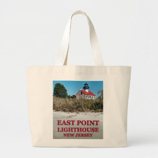 East Point Lighthouse, New Jersey Jumbo Tote Bag