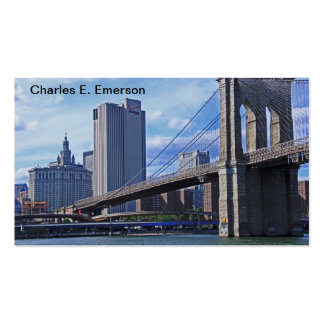 East River Brooklyn Bridge Municipal Building Business Cards