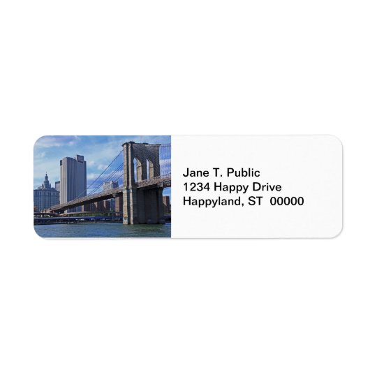 East River: Brooklyn Bridge & Municipal Building Return Address Label