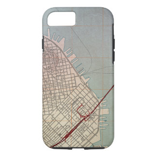 East San Francisco Topographic Map iPhone 7 Case