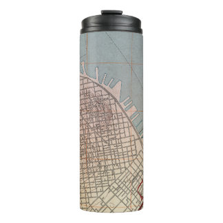East San Francisco Topographic Map Thermal Tumbler