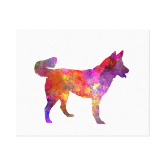 East Siberian Laika in watercolor Canvas Print