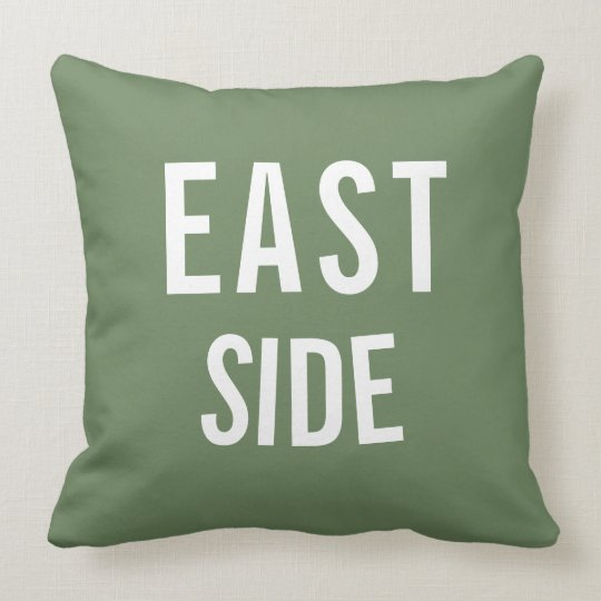 East Side Customizable Pillow
