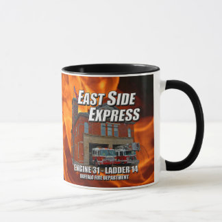 East Side Express Ringer Mug (Flames)