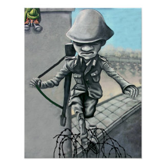 East Side Gallery, Berlin Wall, Sentry on Wall (ac Poster