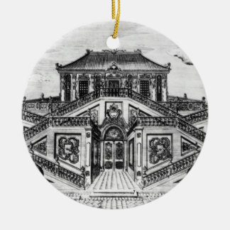 East side of the Palace of the Calm of the Sea, Ga Round Ceramic Ornament