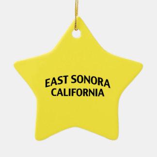 East Sonora California Ceramic Ornament