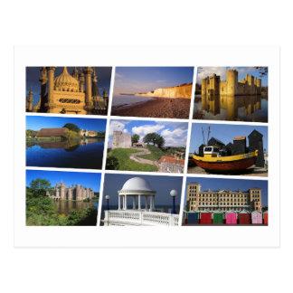 East Sussex multi-image Postcard