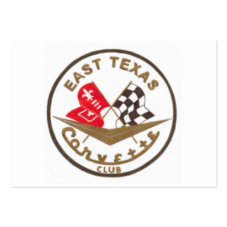 East Texas Corvette Club Business Cards
