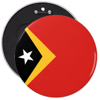 East Timor Flag 6 Inch Round Button