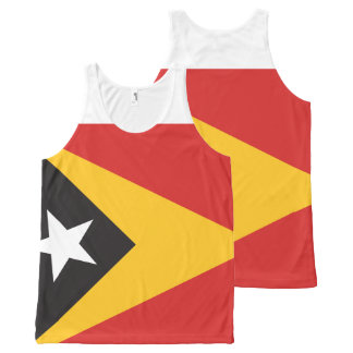 East Timor Flag All-Over-Print Tank Top