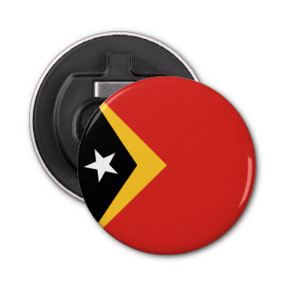 East Timor Flag Button Bottle Opener