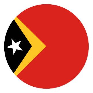 East Timor Flag Card