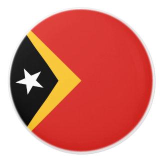 East Timor Flag Ceramic Knob