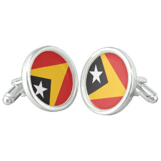 East Timor Flag Cuff Links