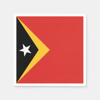 East Timor Flag Disposable Napkins
