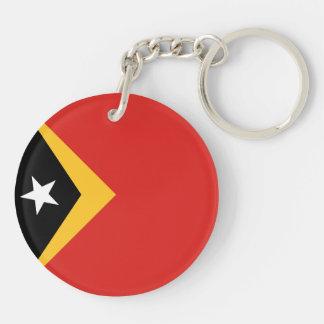 East Timor Flag Double-Sided Round Acrylic Keychain