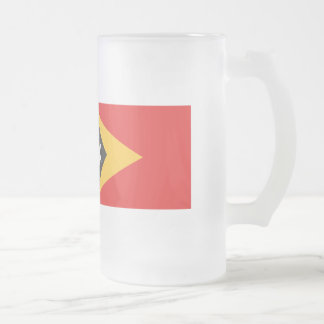 East Timor Flag Frosted Glass Beer Mug