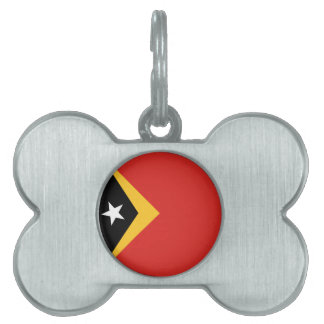 East Timor Flag Pet Name Tags
