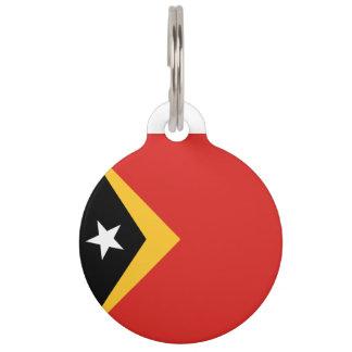 East Timor Flag Pet Nametag
